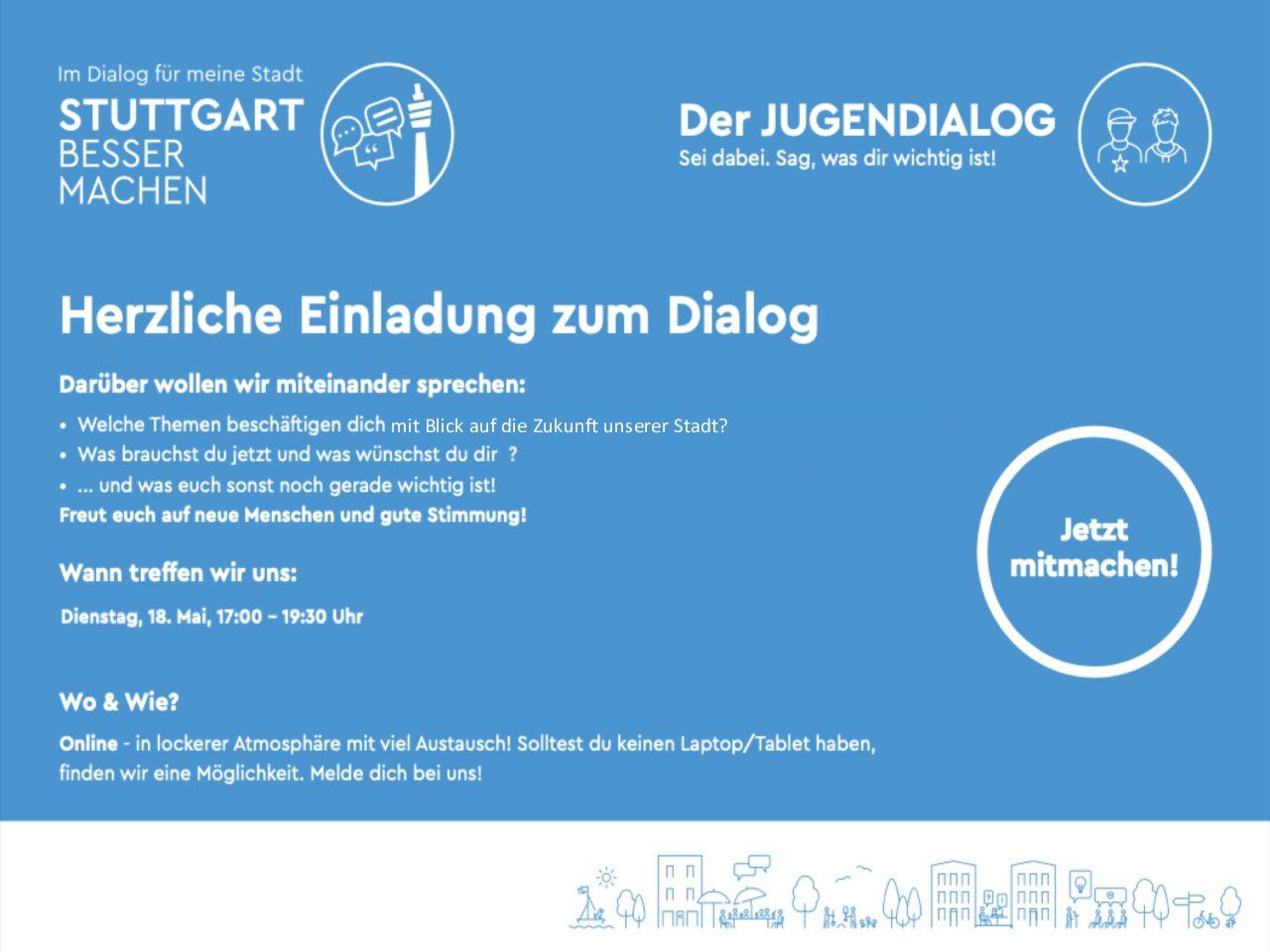Jugenddialog: Online-Dialog am 18. Mai